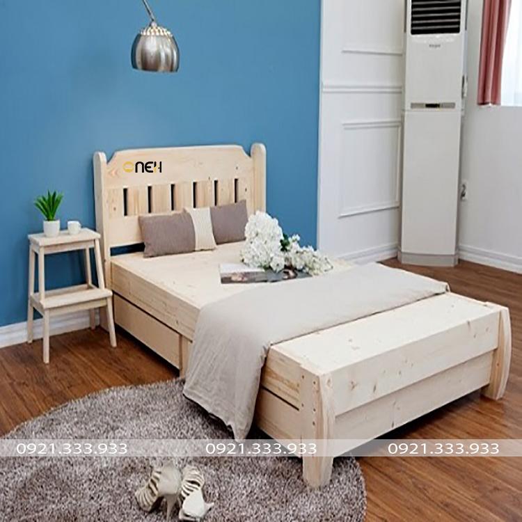 Giường ngủ một người có thiết kế đơn giản