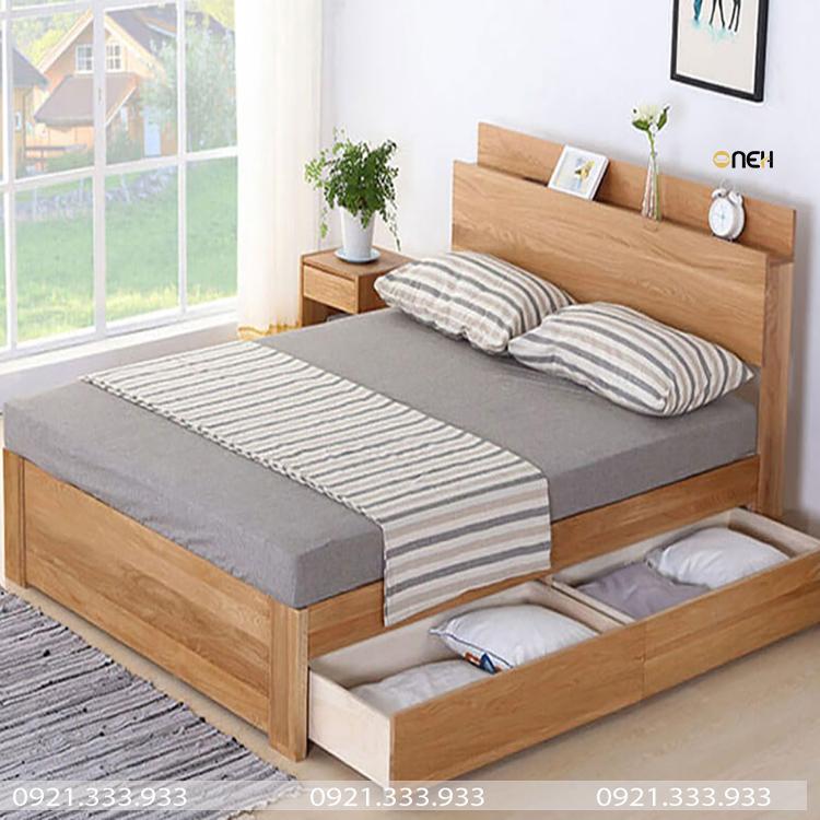Giường ngủ kết hợp ngăn kéo lớn vô cùng tiện nghi