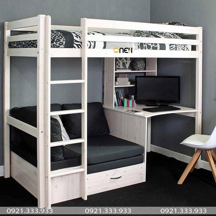 Giường ngủ có bàn học sát tường
