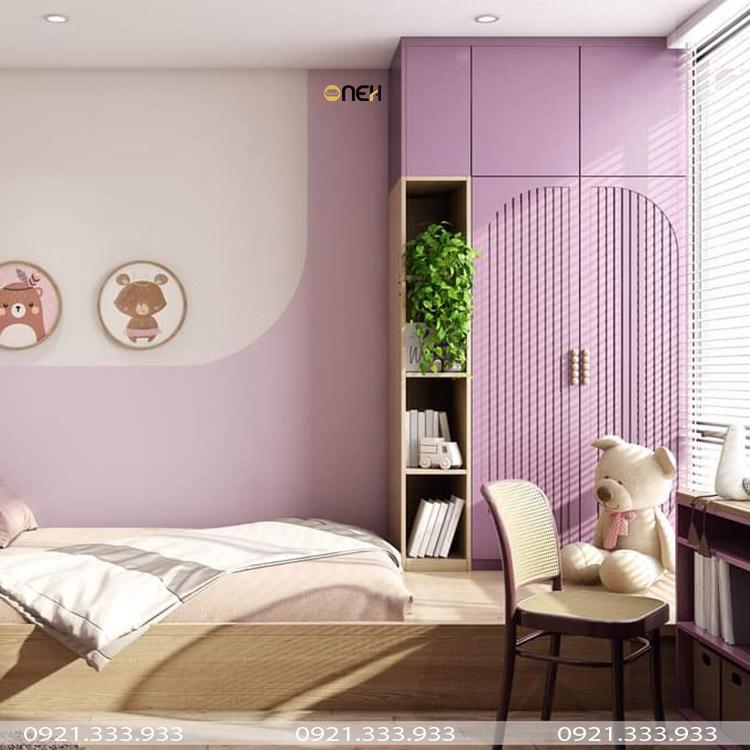Giường ngủ kết hợp tủ quần áo hiện đại
