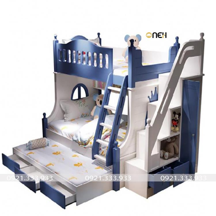 Giường tầng cho bé trai có thiết kế độc đáo