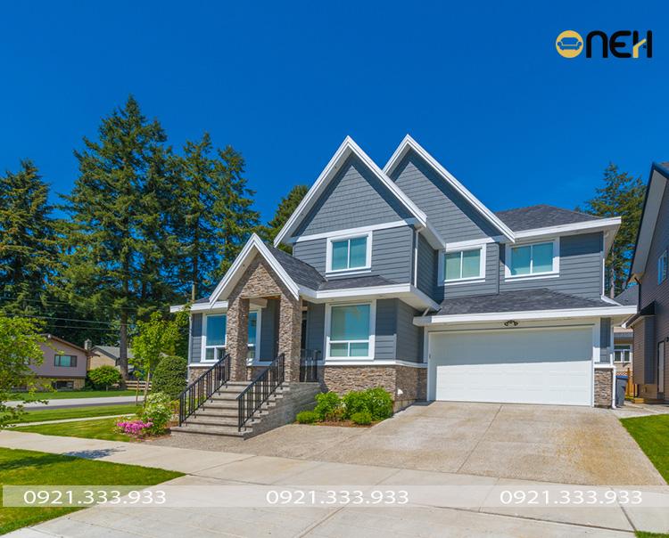 Màu sơn nhà đẹp - Thiết kế tone xanh lam trung tính mát mắt