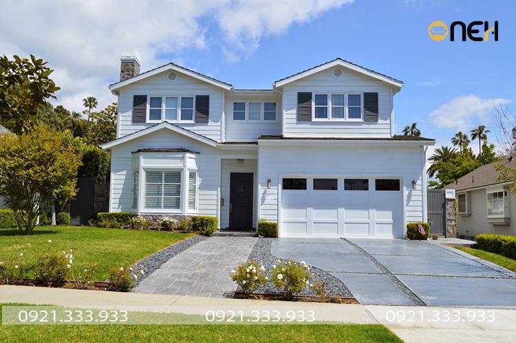 Màu sơn nhà đẹp - Thiết kế tone trắng tinh tế