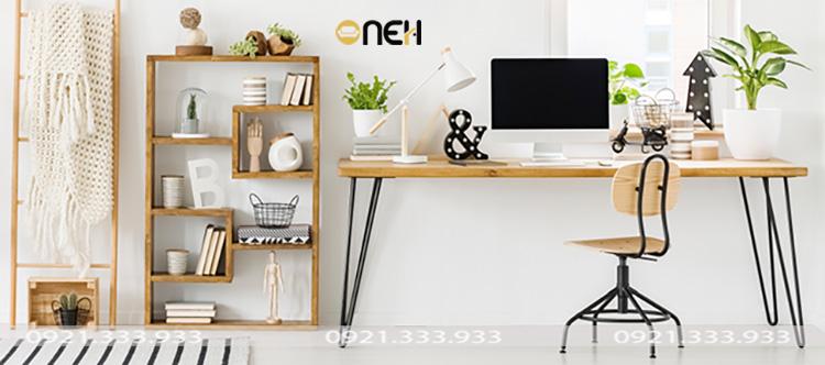 Trang trí bàn làm việc bằng cay xanh
