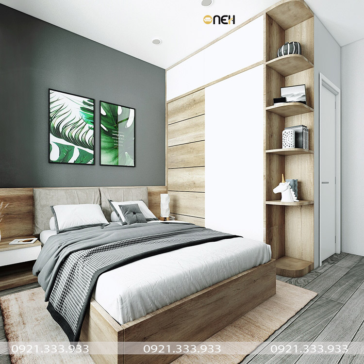 Thiết kế tủ quần áo gỗ công nghiệp 1m6 dạng cửa lùa tiện nghi