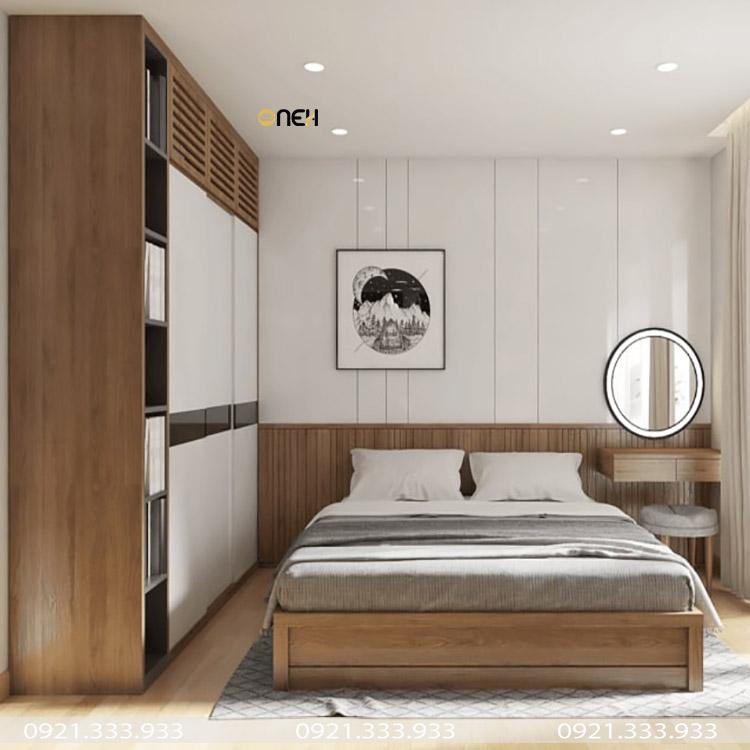 Tủ quần áo gỗ công nghiệp 1m6 kết cấu không gian cất trữ lớn