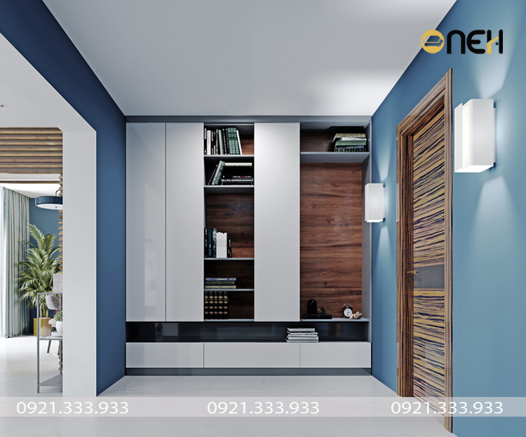 Tủ quần áo gỗ công nghiệp 4 cánh thiết kế hiện đại thông minh