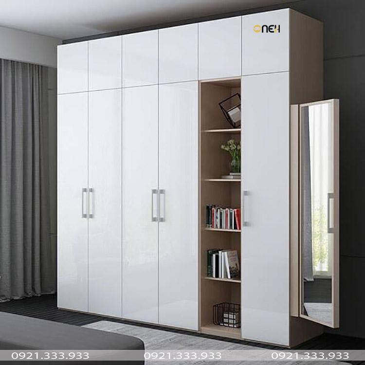 Thiết kế tủ quần áo gỗ công nghiệp 5 cách phong cách hiện đại