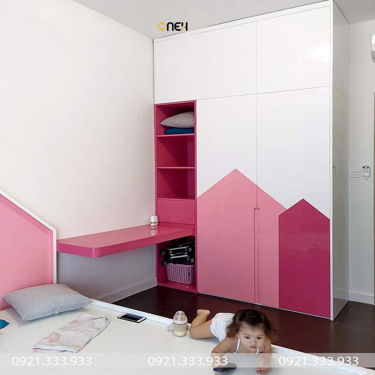 Thiết kế bề ngoài tủ quần áo gỗ mini đẹp mắt