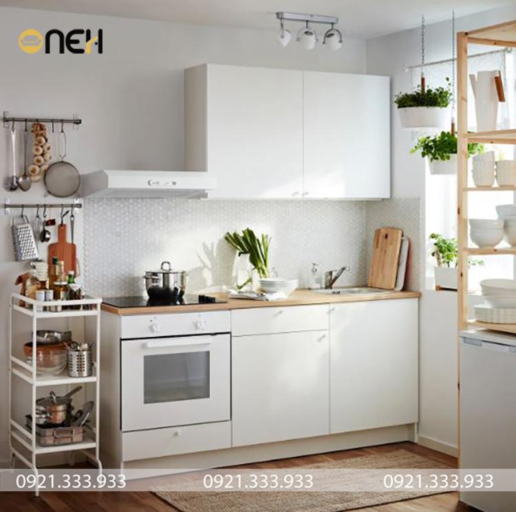 Thiết kế mẫu tủ bếp giúp không gian bếp trở nên tiện ích với đầy đủ công năng