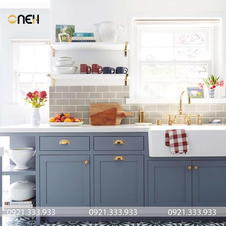 Tủ bếp mini tuy nhỏ nhưng lại đảm bảo đầy đủ tiện nghi