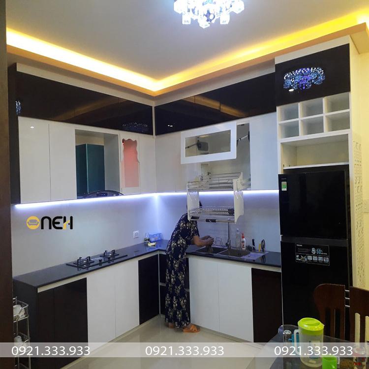 Thiết kế phòng bếp với tủ bếp có kích thước phù hợp