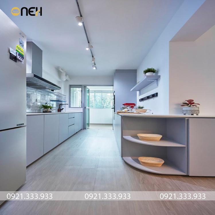 Tủ bếp hiện đại, kết cấu nhiều ngăn tiện ích