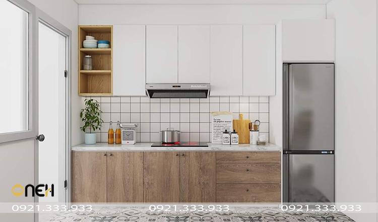 Thiết kế tủ bếp đón ánh sáng tự nhiên