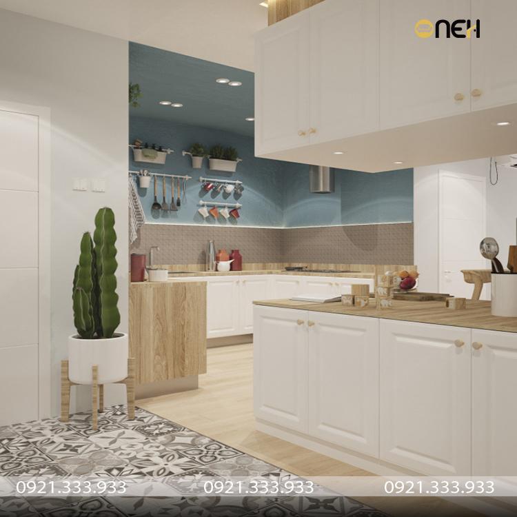 Thiết kế nội thất phòng bếp nhỏ gọn hiện đại, sang trọng