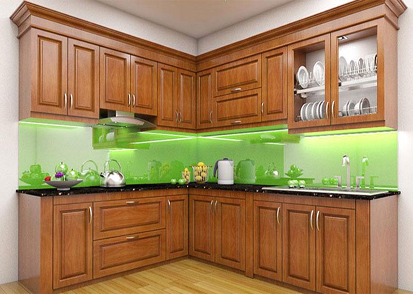 Tủ bếp gỗ công nghiệp có độ bền cao