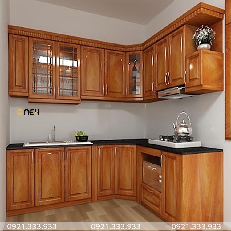 Tủ bếp gỗ căm xe phù hợp với các phong cách tủ bếp hiện đại, cổ điển,...