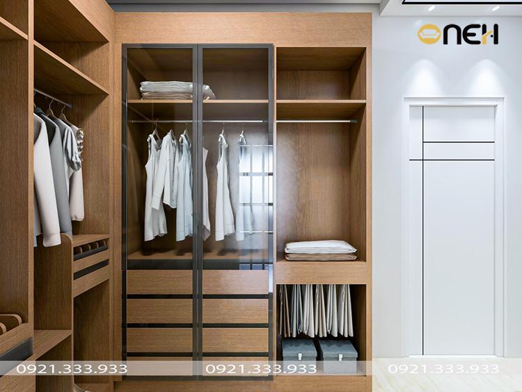 Thiết kế tủ áo góc thông minh, tối ưu hóa diện tích sử dụng