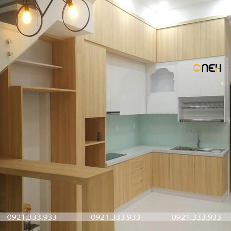 Tủ bếp gỗ công nghiệp melamine có màu sắc đa dạng