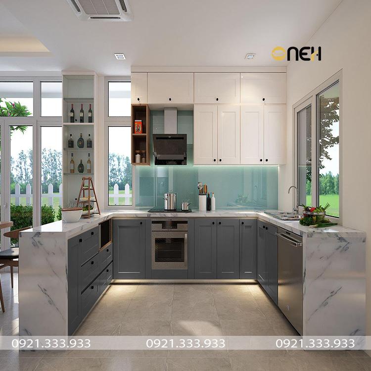 Đóng tủ bếp công nghiệp thiết kế mang tính thẩm mỹ cao, bắt kịp xu hướng