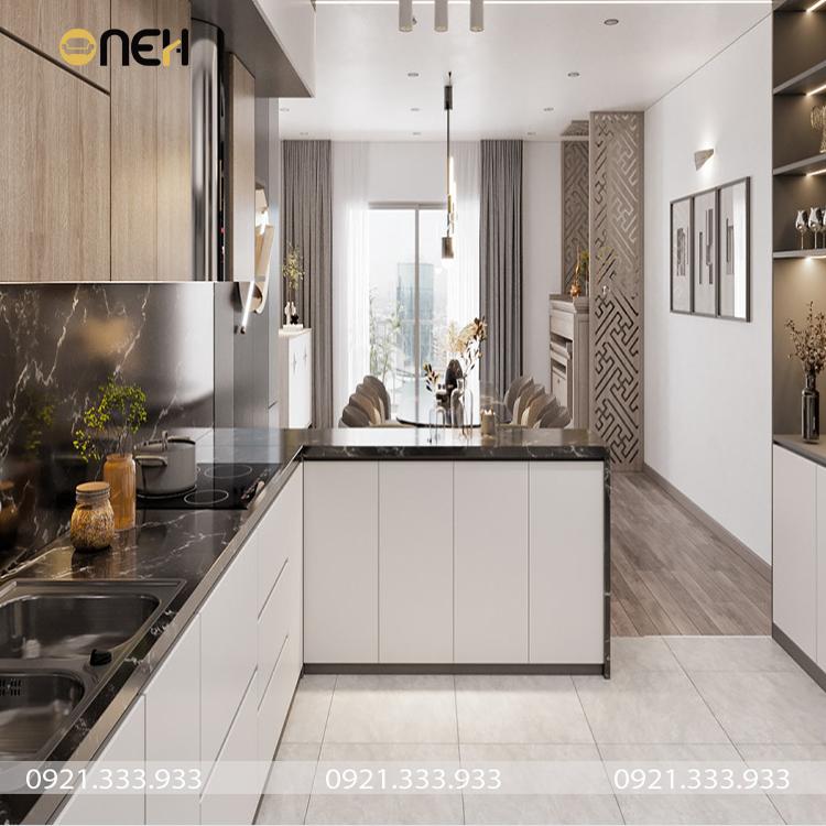Đóng tủ bếp công nghiệp kết cấu chắc chắn, độ bền chắc khá cao