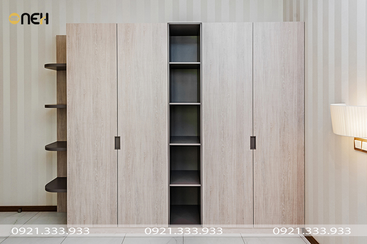 Tủ áo gỗ tự nhiên kết cấu bền theo thời gian