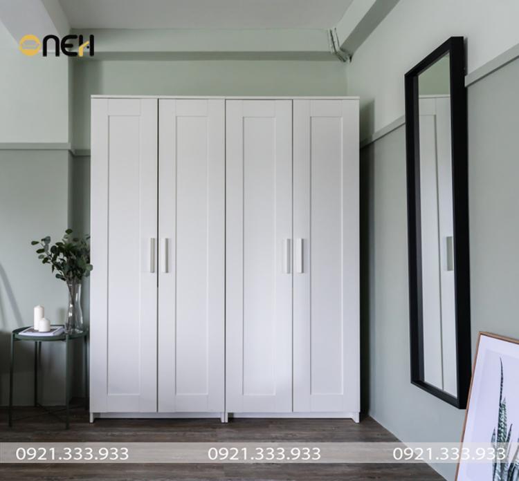 Tủ áo gỗ tự nhiên thiết kế sang trọng trong từng đường nét