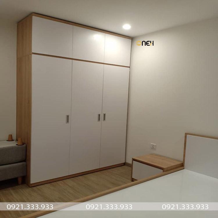 Tủ quần áo chung cư được làm bằng gỗ công nghiệp cao cấp