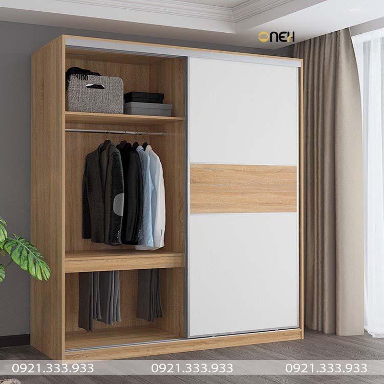 Tủ quần áo cửa lùa thiết kế đơn giản
