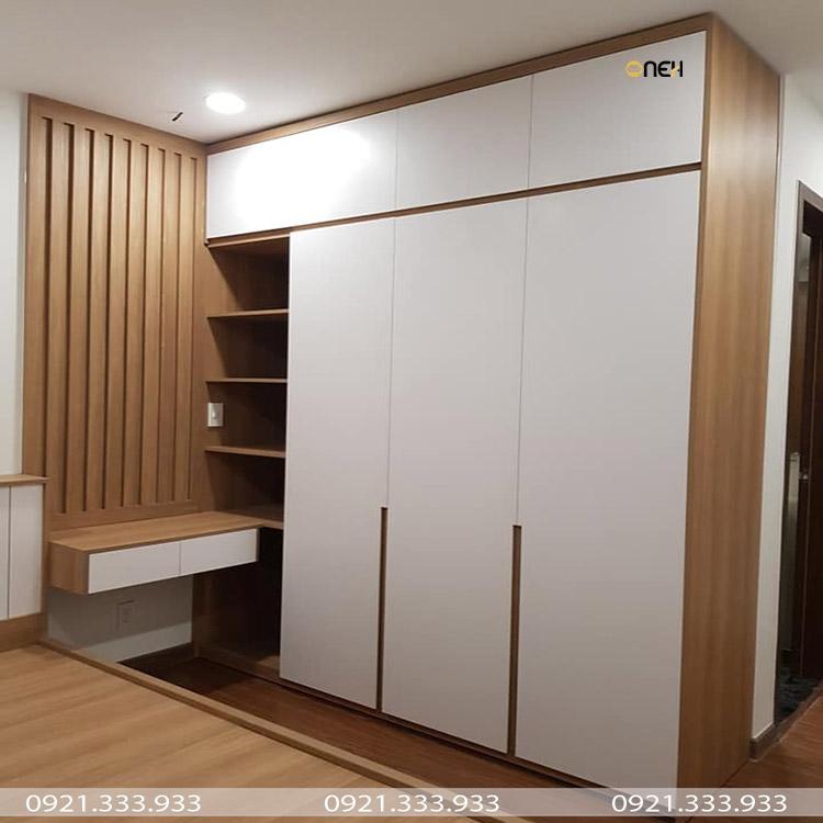 Tủ áo kịch trần có thiết kế hiện đại