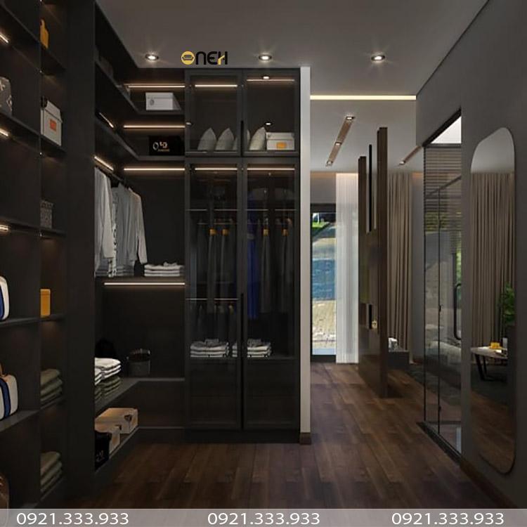 Tủ quần áo đẹp dạng kính mang tính thẩm mỹ cao
