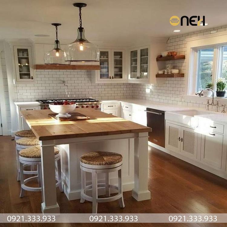 Thiết kế nhà bếp đón ánh sáng tự nhiên, tươi sáng