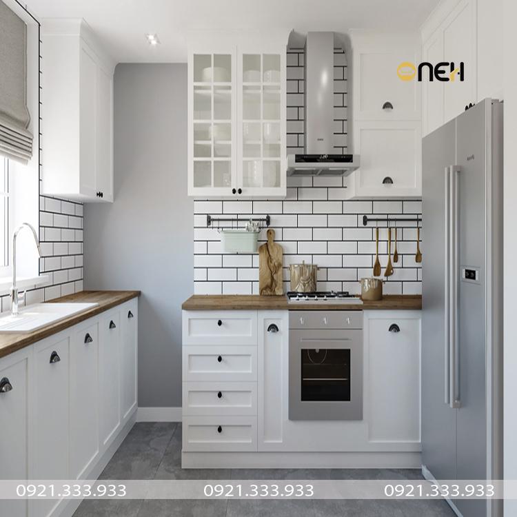 Thiết kế tủ bếp cao cấp phong cách Bắc Âu tinh tế, đẹp