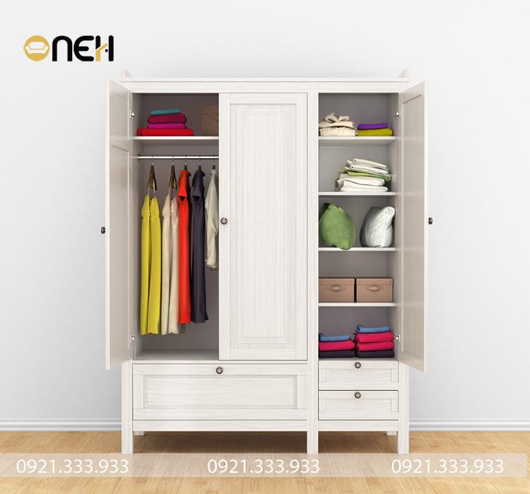 Tủ quần áo thiết kế tinh xảo, đơn giản