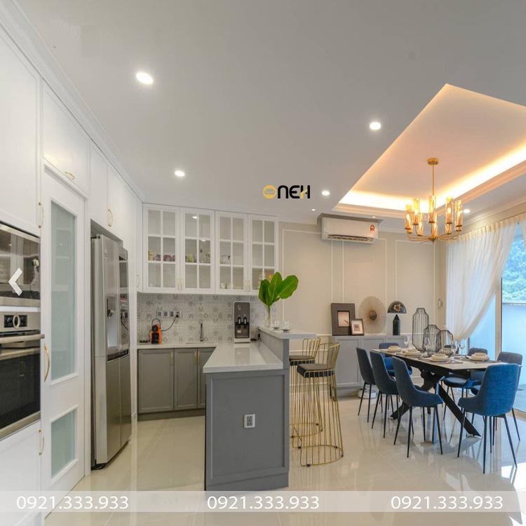 Thiết kế phòng bếp gam màu trung tính, đẹp mắt, tinh tế