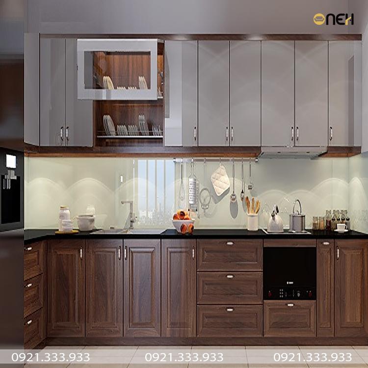Dóng tủ bếp Biên hòa, kết cấu nhiều ngăn tiện ích