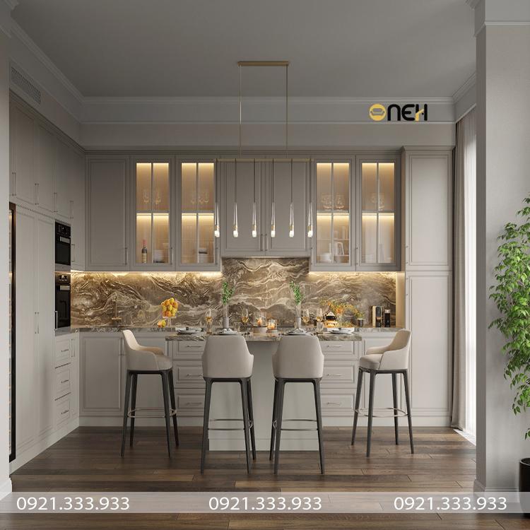 Đóng tủ bếp Biên Hòa với thiết kế sang trọng, hiện đại