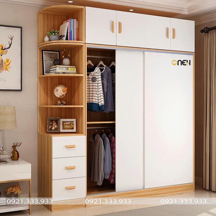 Tủ áo hiện đại làm bằng gỗ công nghiệp có rẻ