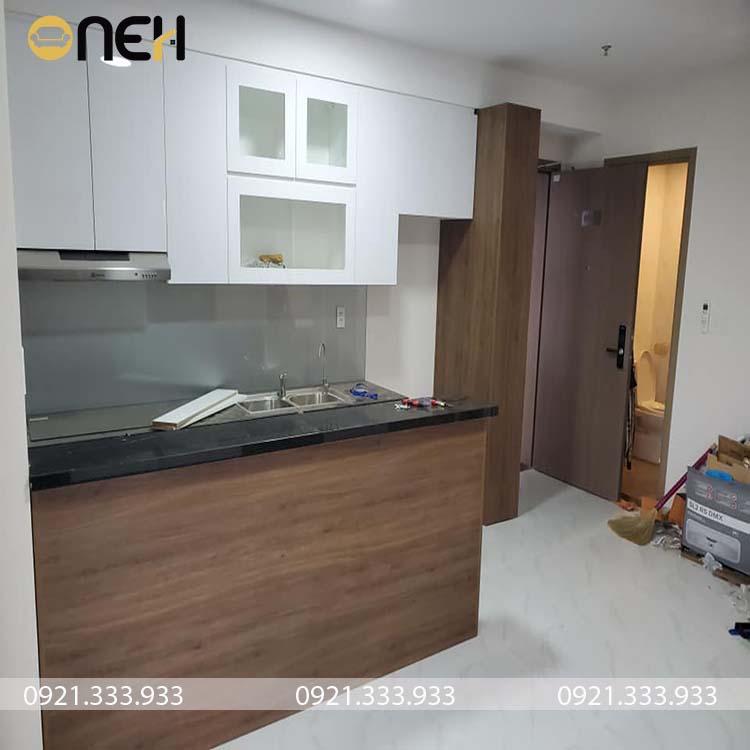 Mẫu tủ bếp có kích thước nhỏ cho nhà chung cư