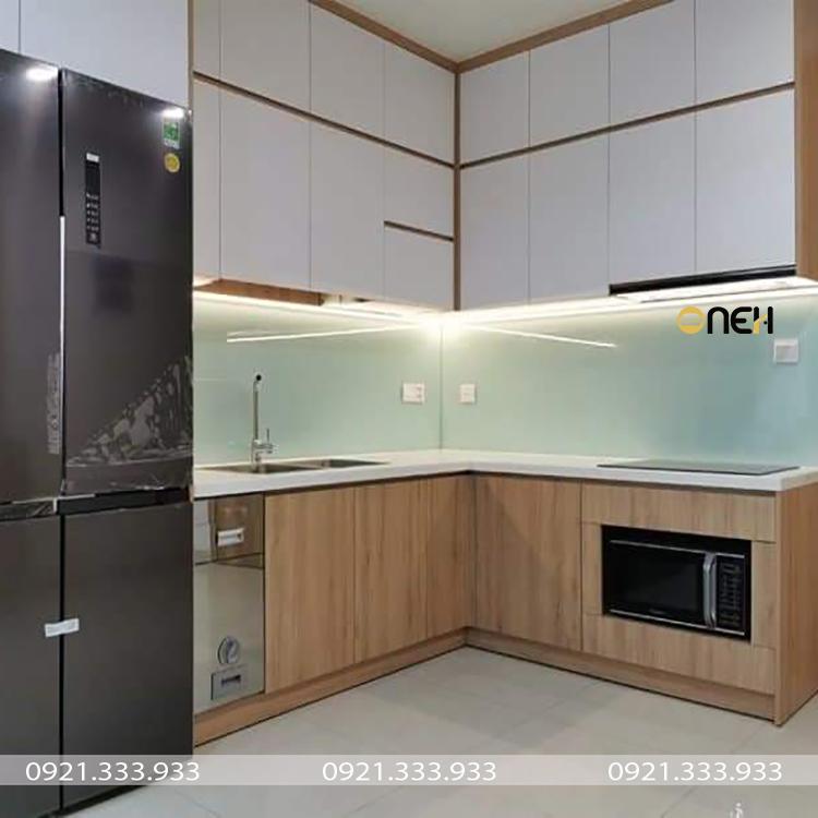 Tủ bếp chữ L là mẫu tủ bếp phù hợp với nhiều không gian và diện tích căn bếp khác nhau