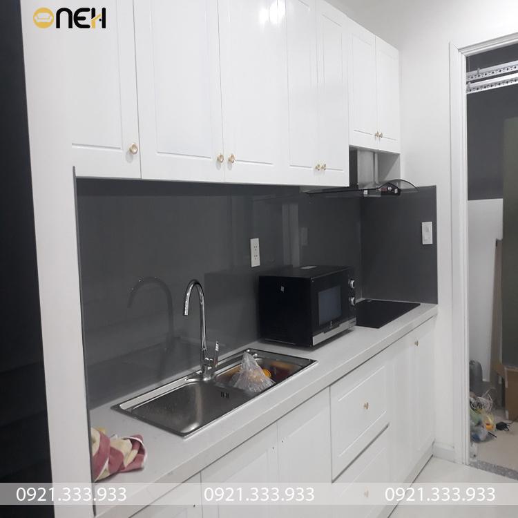 Tủ bếp hiện đại tiết kiệm diện tích bếp