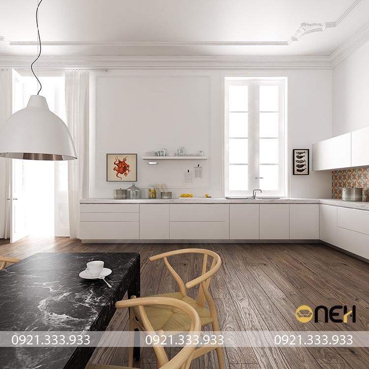 Tủ bếp phong cách Bắc Âu thiết kế tập trung vào các chức năng riêng biệt và sự tối giản