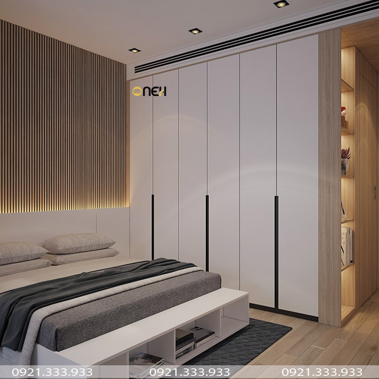 Tủ quần áo âm tường giải pháp cho không gian phòng ngủ