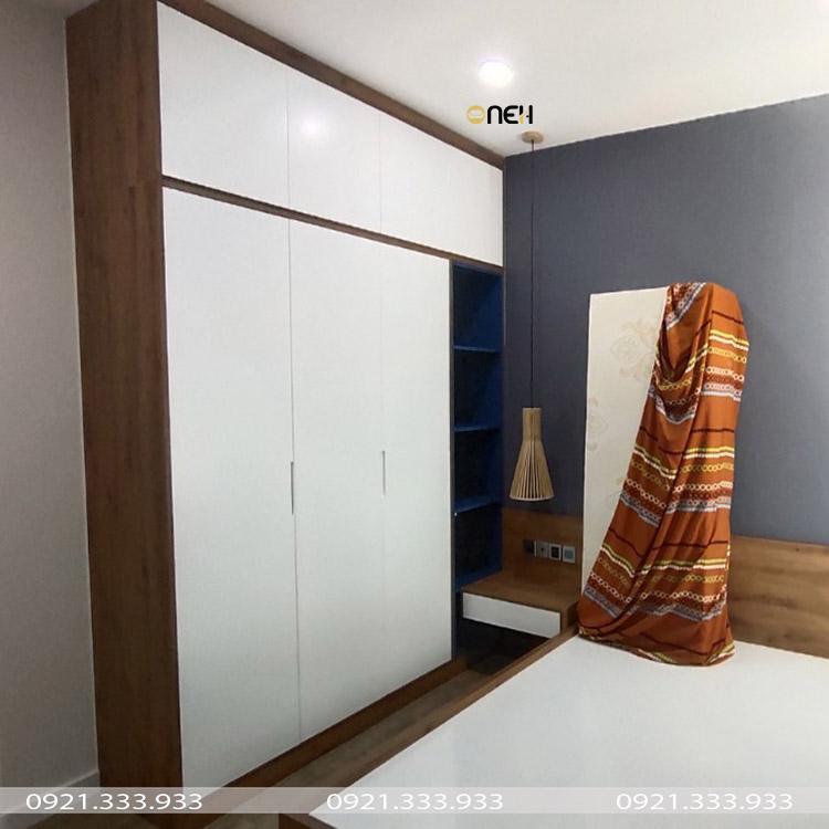 Tủ quần áo gỗ công nghiệp có thiết hiện đại tiết kiệm diện tích