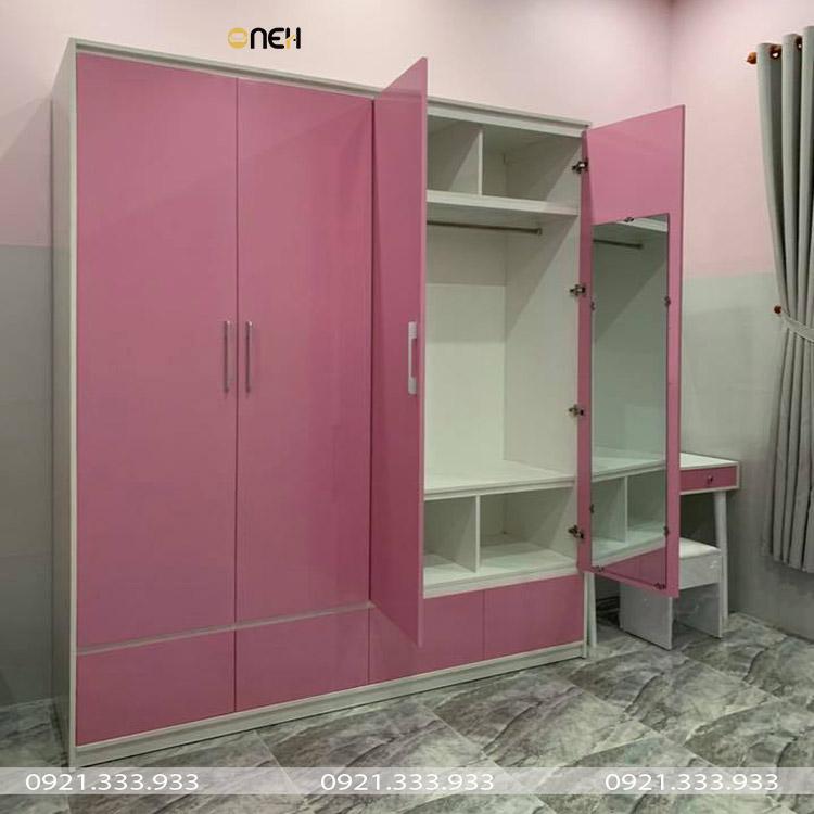 Tủ quần áo trẻ em có màu sắc nổi bật