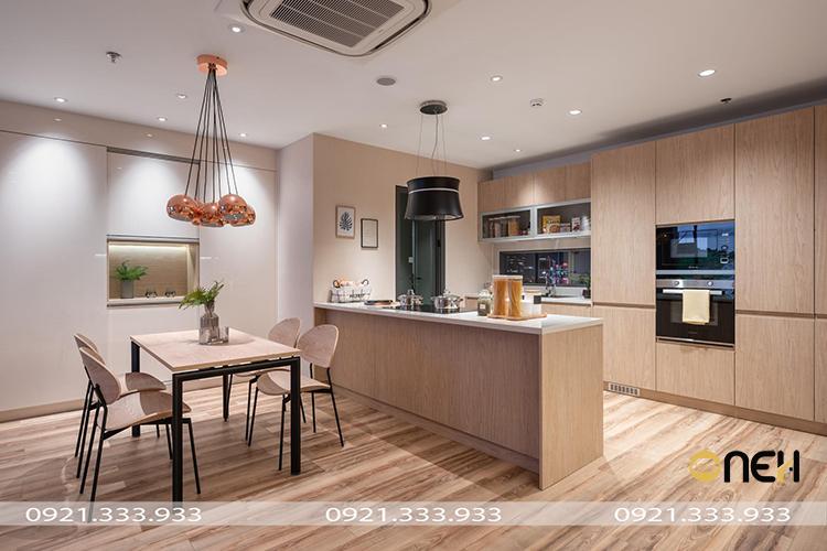 Thiết kế nội thất đồ gỗ nguyên căn mang phong cách hiện đại
