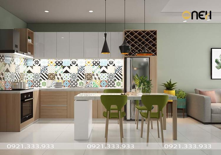 Thiết kế nội thất đồ gỗ tủ bếp đơn giản phù hợp nhiều không gian
