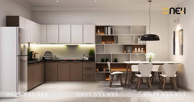 Thiết kế nội thất đồ gỗ nhà bếp sang trọng, tính ứng dụng cao
