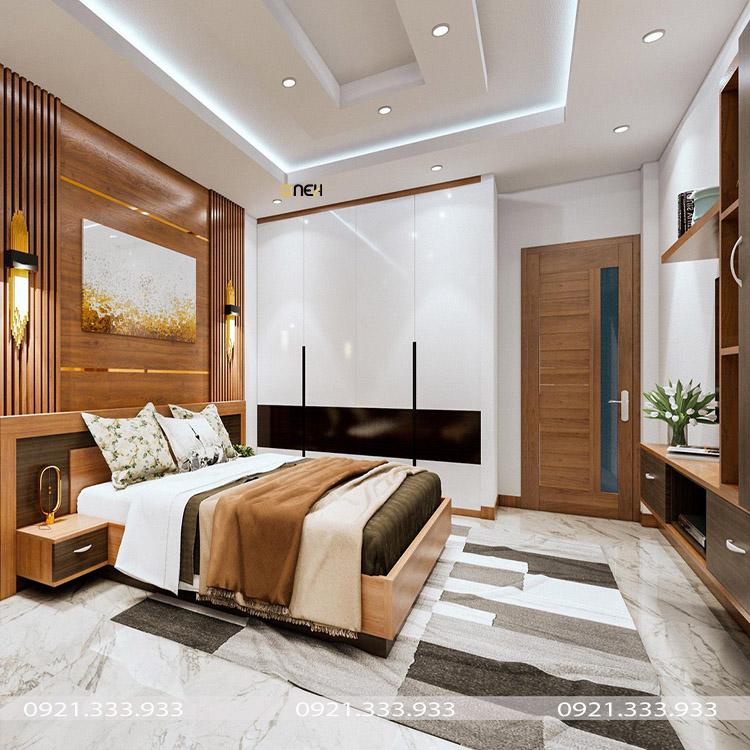 Tủ quần áo gỗ acrylic bóng gương có tính thẩm mỹ cao